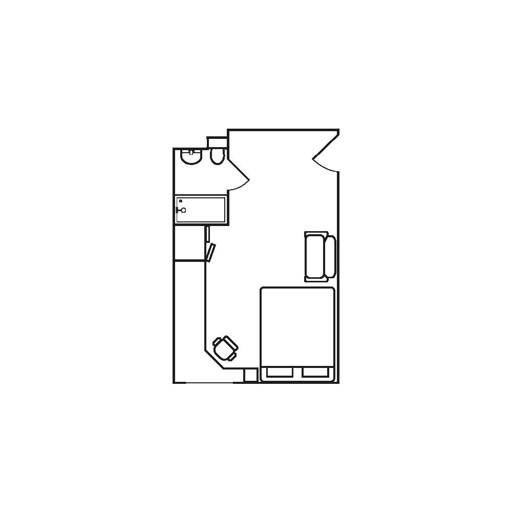 Deluxe student apartment in birmingham floor plan